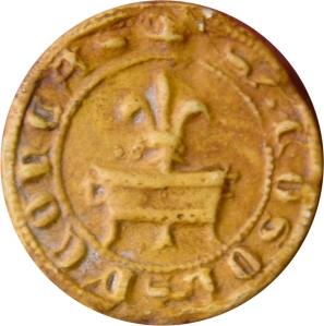 Fig. 7 : sceau de Conques, 1303.  (D 5632)